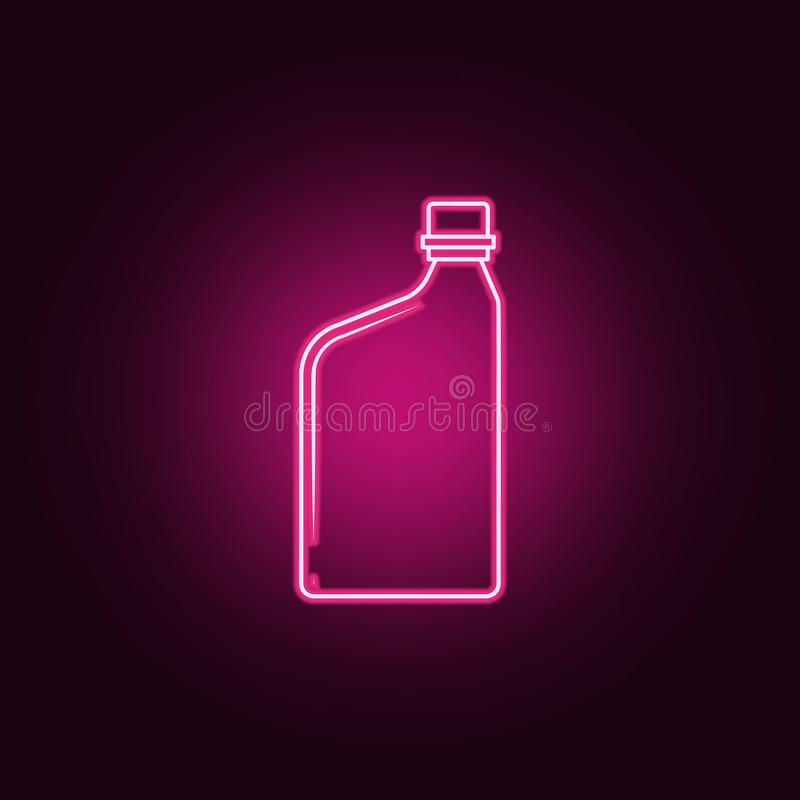 εμπορευματοκιβώτιο για το εικονίδιο πετρελαίου μηχανών Στοιχεία του μπουκαλιού στα εικονίδια ύφους νέου Απλό εικονίδιο για τους ι ελεύθερη απεικόνιση δικαιώματος