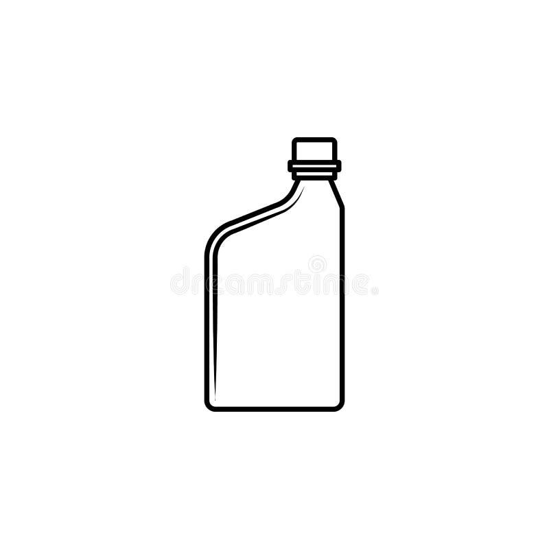 εμπορευματοκιβώτιο για το εικονίδιο πετρελαίου μηχανών Στοιχείο του μπουκαλιού για την κινητούς έννοια και τον Ιστό apps Λεπτό ει απεικόνιση αποθεμάτων