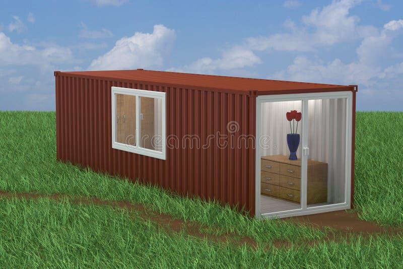 Εμπορευματοκιβώτιο που μετατρέπεται στο σπίτι διανυσματική απεικόνιση