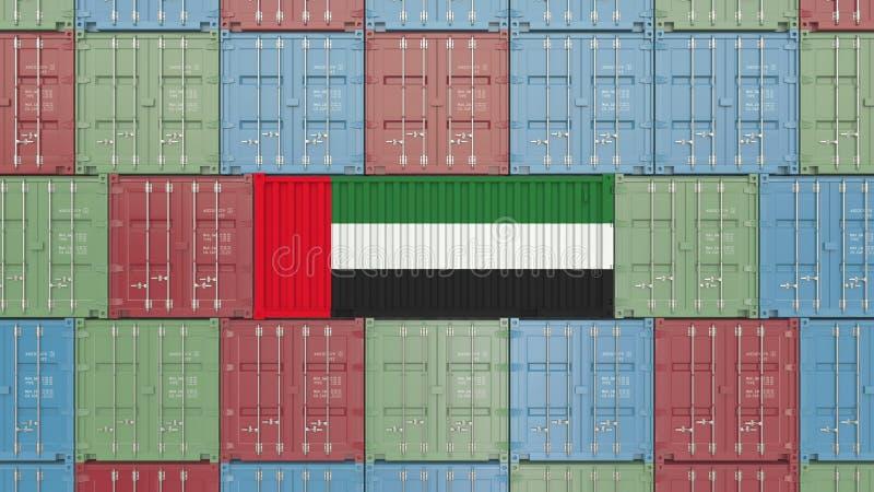 Εμπορευματοκιβώτιο φορτίου με τη σημαία των Ηνωμένων Αραβικών Εμιράτων Η εισαγωγή ή η εξαγωγή Ε.Α.Ε. αφορούσε την τρισδιάστατη απ ελεύθερη απεικόνιση δικαιώματος