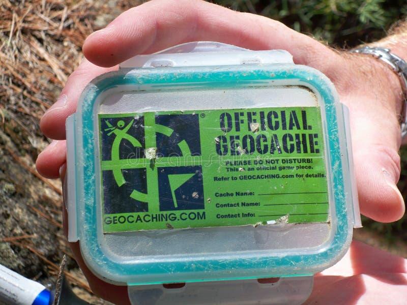 Εμπορευματοκιβώτιο Geocache στοκ εικόνες