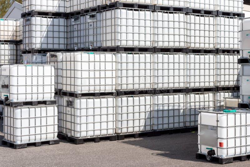 Εμπορευματοκιβώτιο Ibc στοκ φωτογραφία με δικαίωμα ελεύθερης χρήσης