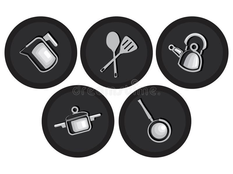εμπορεύματα κουζινών ει&ka διανυσματική απεικόνιση