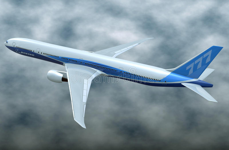 Εμπορικά αεροσκάφη του Boeing 777-300ER ελεύθερη απεικόνιση δικαιώματος