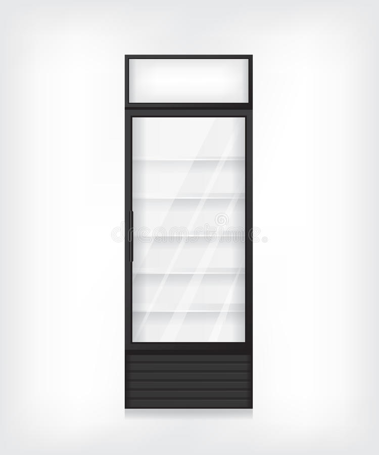 Εμπορική απεικόνιση ψυγείων διανυσματική απεικόνιση