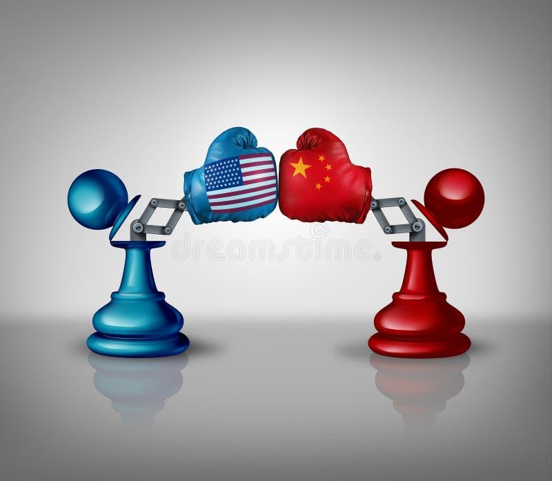 Εμπορική πάλη της Κίνας ΗΠΑ διανυσματική απεικόνιση