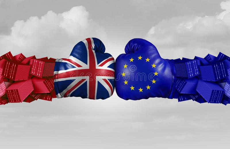 Εμπορική πρόκληση του UK και της ΕΕ απεικόνιση αποθεμάτων
