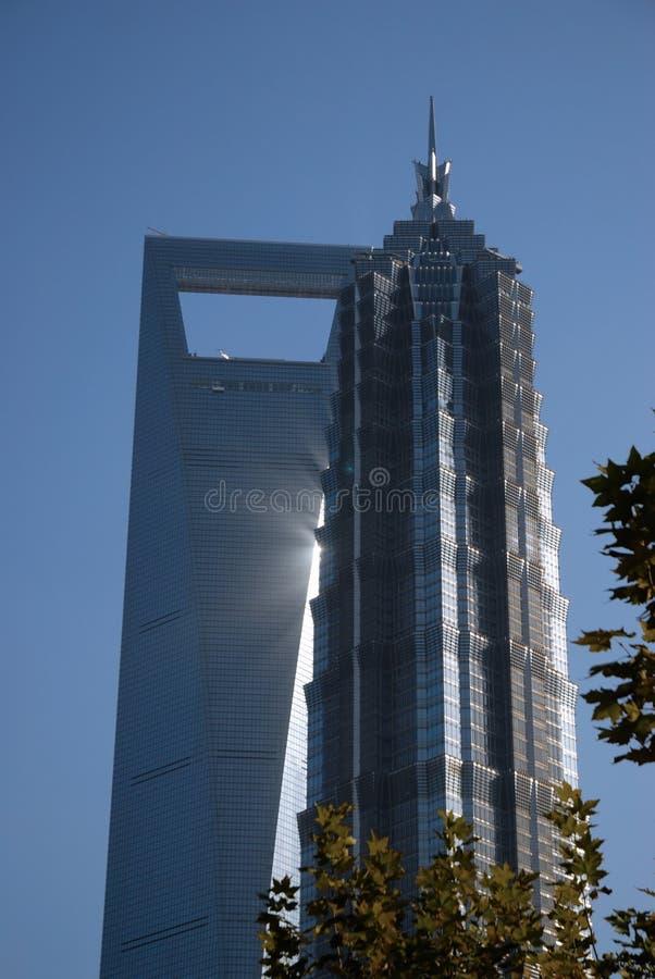 εμπορικός κόσμος κεντρικών πύργων στοκ εικόνα