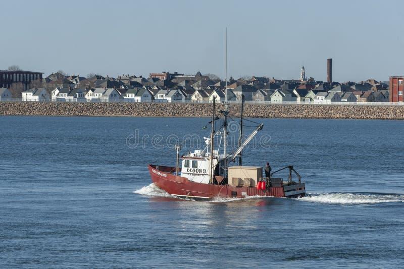Εμπορικός τίτλος της Mary Emmalene αλιευτικών σκαφών έξω στοκ εικόνες