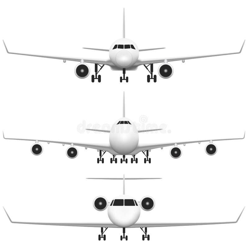 Εμπορικό αεροπλάνο διανυσματική απεικόνιση
