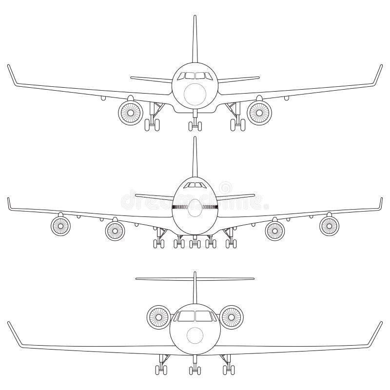 Εμπορικό αεροπλάνο απεικόνιση αποθεμάτων