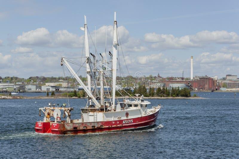 Εμπορικό αλιευτικό σκάφος ο πλοίαρχος Jeff στο Νιού Μπέντφορτ στοκ εικόνες με δικαίωμα ελεύθερης χρήσης