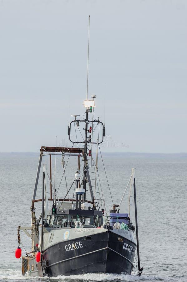 Εμπορικό αλιευτικό σκάφος Grace που πλησιάζει στο Νιού Μπέντφορτ στοκ φωτογραφία με δικαίωμα ελεύθερης χρήσης
