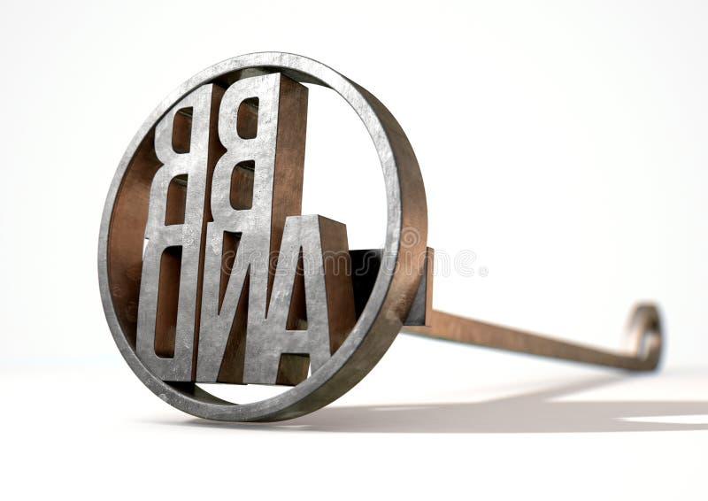 Εμπορικό σήμα μαρκάροντας σιδήρου απεικόνιση αποθεμάτων