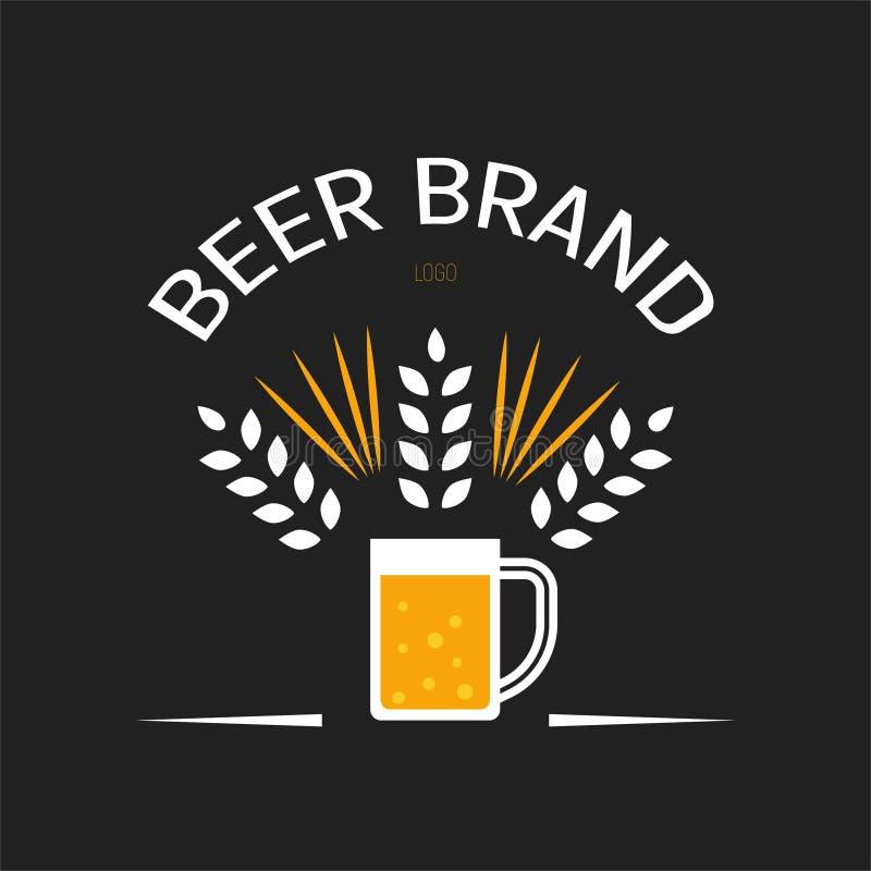Εμπορικό σήμα μπύρας διανυσματική απεικόνιση