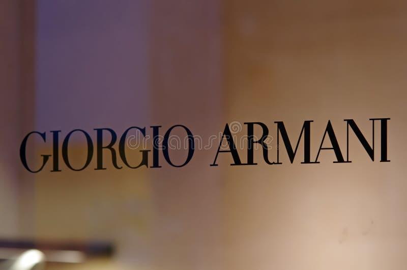 εμπορικό σήμα Giorgio armani στοκ εικόνα