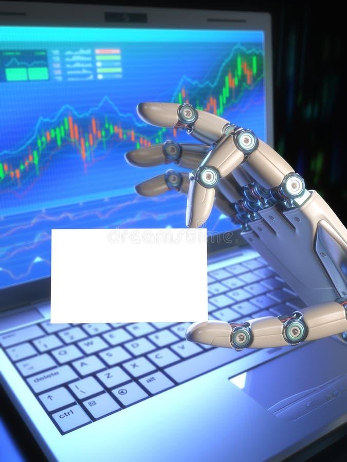 Εμπορικό σύστημα/επαγγελματική κάρτα ρομπότ απεικόνιση αποθεμάτων