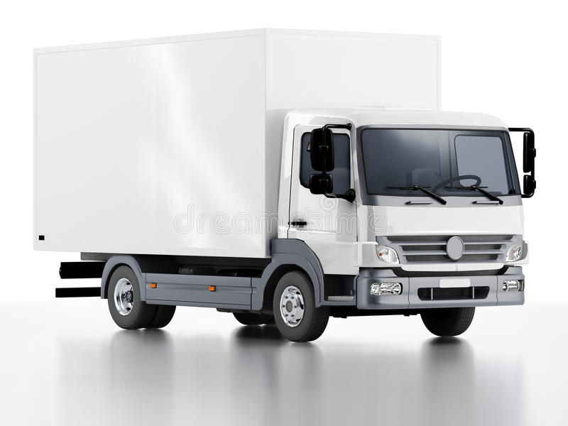 Εμπορικό φορτηγό παράδοσης/φορτίου απεικόνιση αποθεμάτων