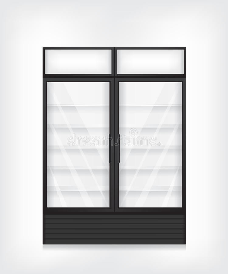 Εμπορικό ψυγείο με δίπορτο απεικόνιση αποθεμάτων