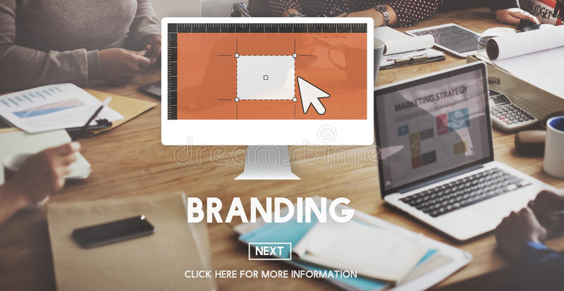 Εμπορικών σημάτων μαρκαρίσματος έννοια μάρκετινγκ διαφήμισης εμπορική στοκ εικόνες
