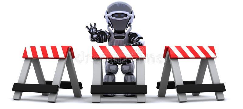 εμπόδιο πίσω από το ρομπότ διανυσματική απεικόνιση