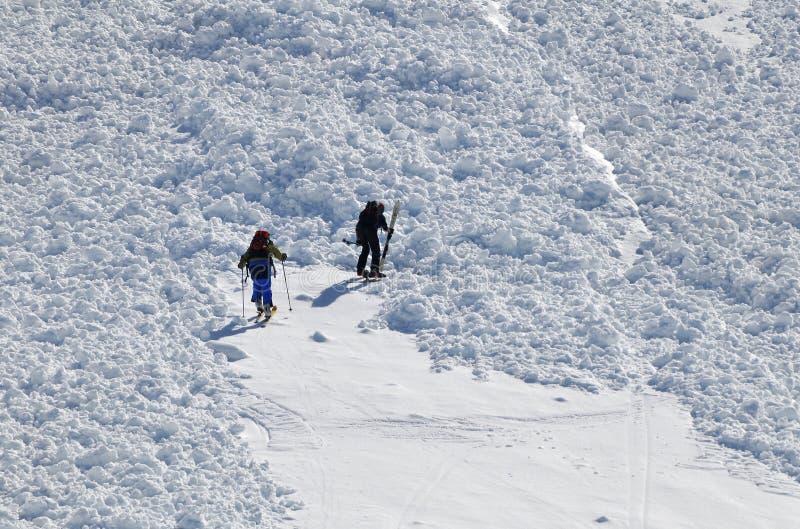εμπόδιο χιονοστιβάδων στοκ εικόνες