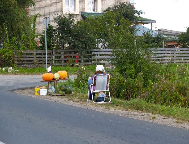 Εμπόριο ακρών του δρόμου στα λαχανικά στην τακτοποίηση στοκ φωτογραφίες