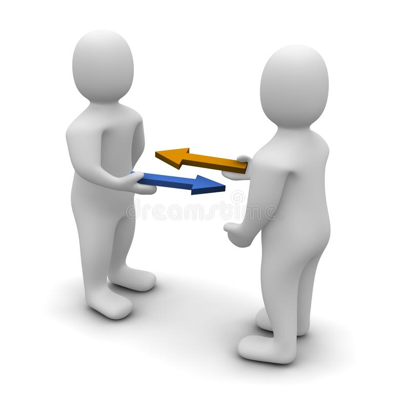 εμπόριο ανταλλαγής απεικόνιση αποθεμάτων