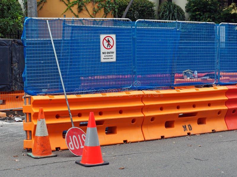 Εμπόδια ασφάλειας εργοταξίων στοκ φωτογραφία με δικαίωμα ελεύθερης χρήσης