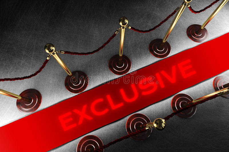 Εμπόδιο σχοινιών με το αποκλειστικό κόκκινο χαλί στοκ φωτογραφία με δικαίωμα ελεύθερης χρήσης
