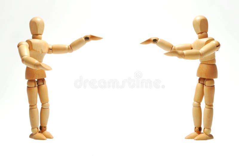 Εμφανίστε στους παρουσιαστές ξύλινες μαριονέτες στοκ φωτογραφία με δικαίωμα ελεύθερης χρήσης