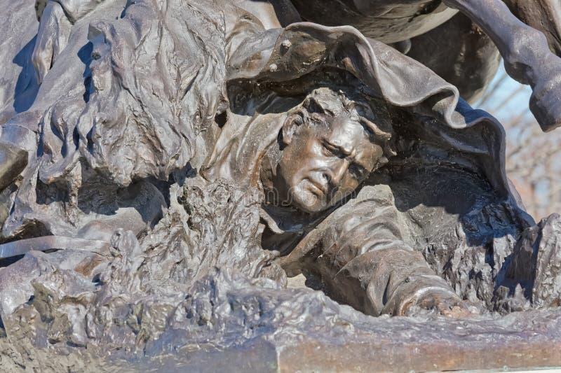Εμφύλιος πόλεμος το αναμνηστικό Washington DC αγαλμάτων δαπανών ιππικού λεπ στοκ φωτογραφία