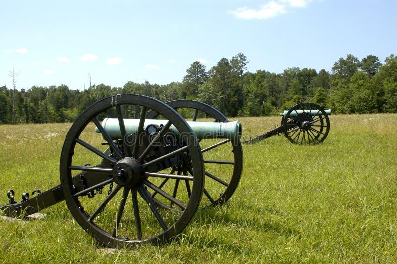 εμφύλιος πόλεμος chickamauga 2 κανόνων στοκ φωτογραφία
