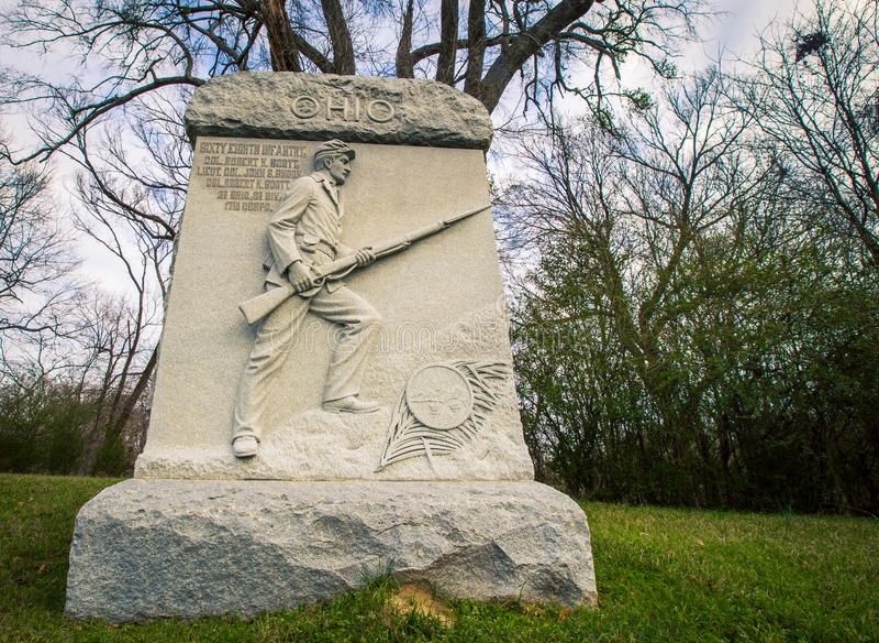 Εμφύλιος πόλεμος αναμνηστικό Vicksburg του Οχάιου στοκ φωτογραφία με δικαίωμα ελεύθερης χρήσης