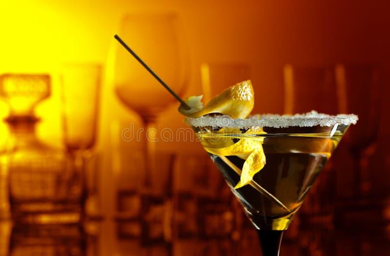 λεμόνι martini στοκ φωτογραφία με δικαίωμα ελεύθερης χρήσης