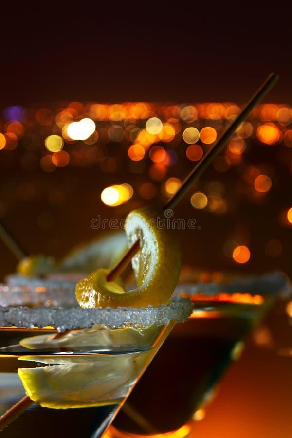 λεμόνι martini στοκ εικόνες
