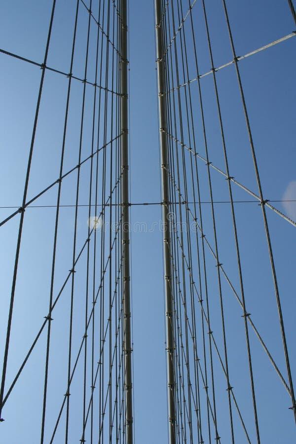 ενάντια στο δεσμό ουρανού ράβδων γεφυρών στοκ φωτογραφία με δικαίωμα ελεύθερης χρήσης