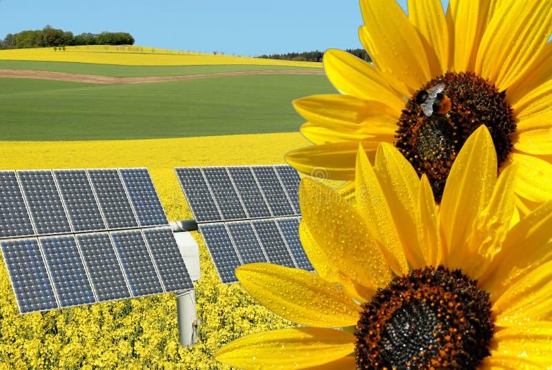 ενέργεια κολάζ ανανεώσιμ στοκ εικόνες