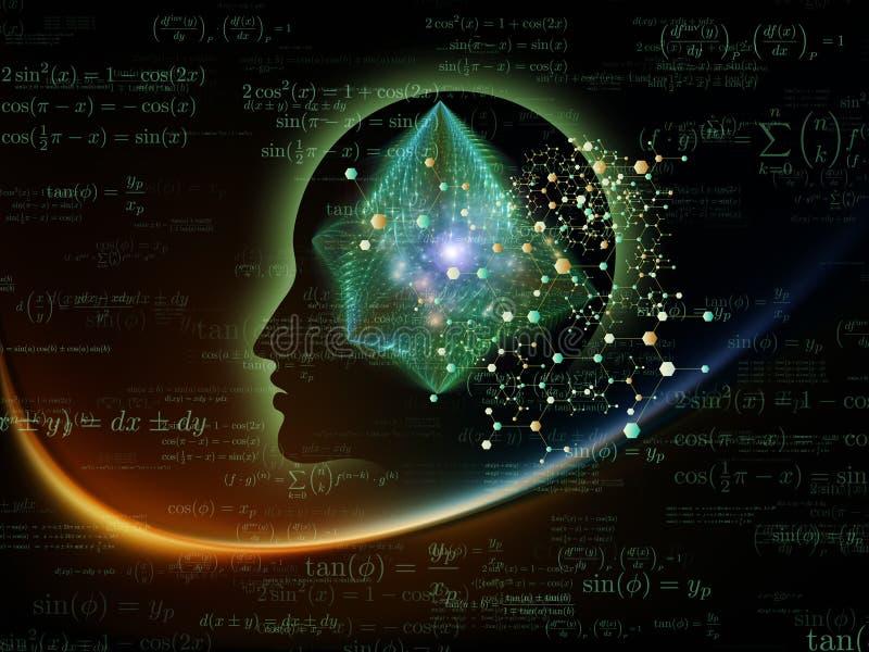 Ενέργεια μυαλού διανυσματική απεικόνιση