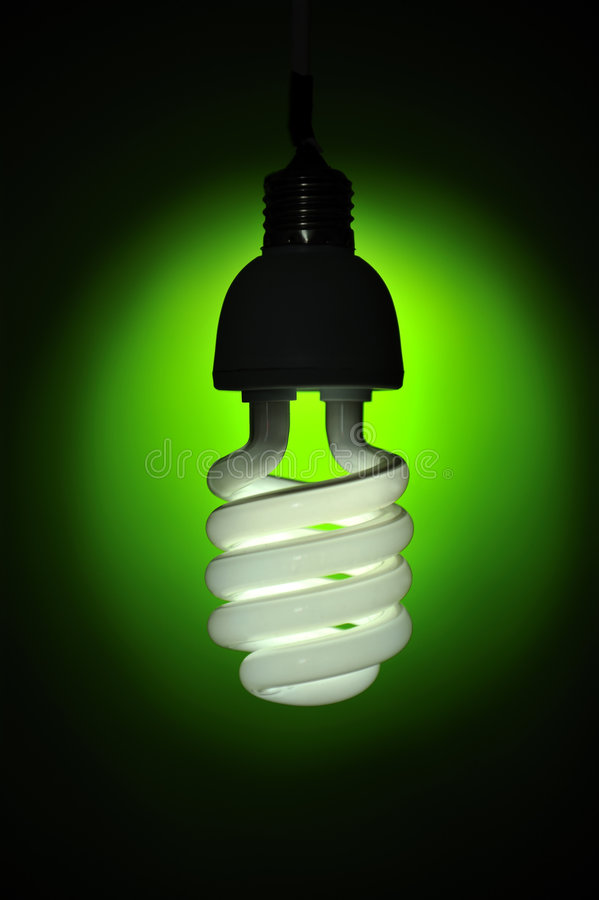 ενέργεια συντήρησης lightbulb στοκ φωτογραφίες