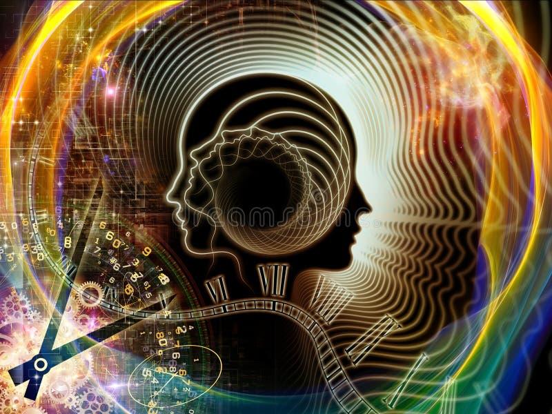 Ενέργεια του ανθρώπινου μυαλού διανυσματική απεικόνιση