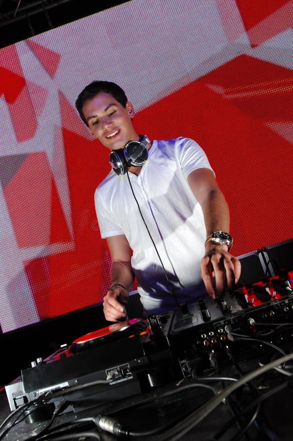 ενέργεια DJ στοκ φωτογραφία