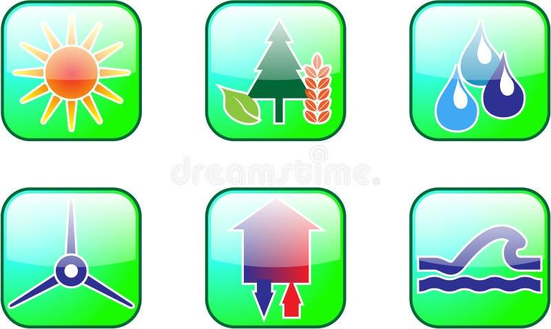 ενέργεια pictogramms βιώσιμη απεικόνιση αποθεμάτων
