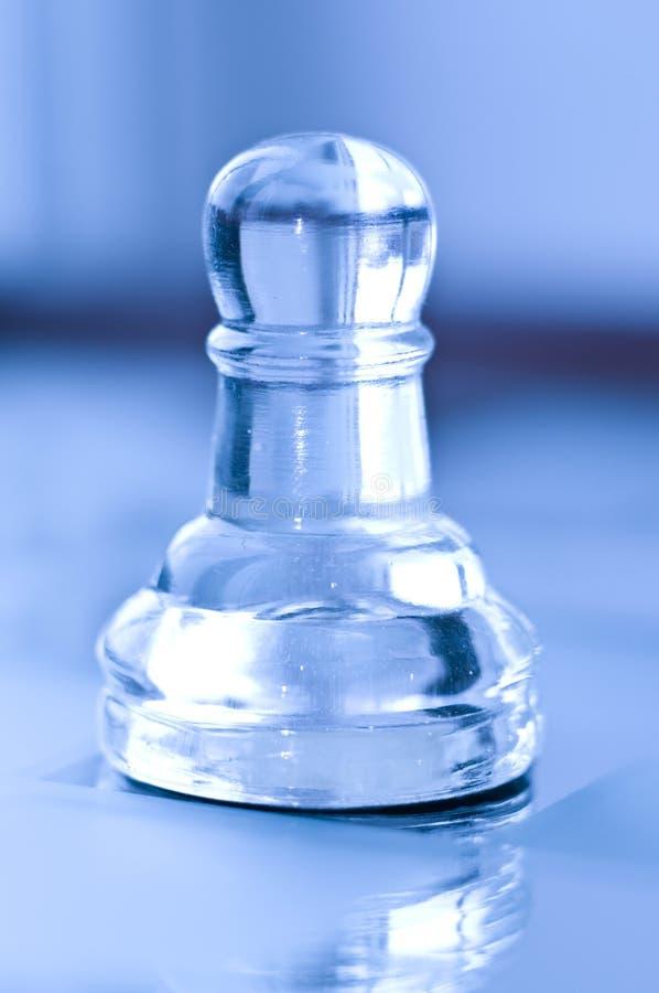 Ενέχυρο σκακιού γυαλιού στοκ εικόνα με δικαίωμα ελεύθερης χρήσης