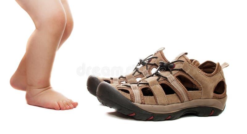 ενήλικα πρόθυμα παπούτσι&alpha στοκ εικόνες