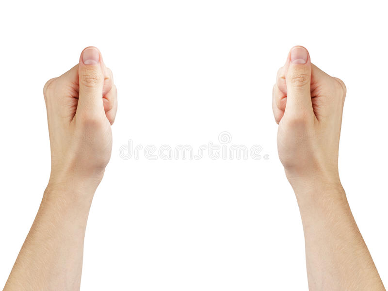 Ενήλικα χέρια ατόμων για να κρατήσει τίποτα στοκ εικόνα με δικαίωμα ελεύθερης χρήσης