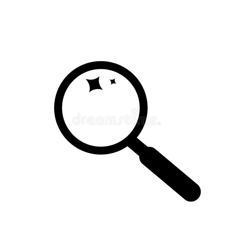 Ενίσχυση αναζήτησης - σύμβολο εικονιδίων γυαλιού ελεύθερη απεικόνιση δικαιώματος
