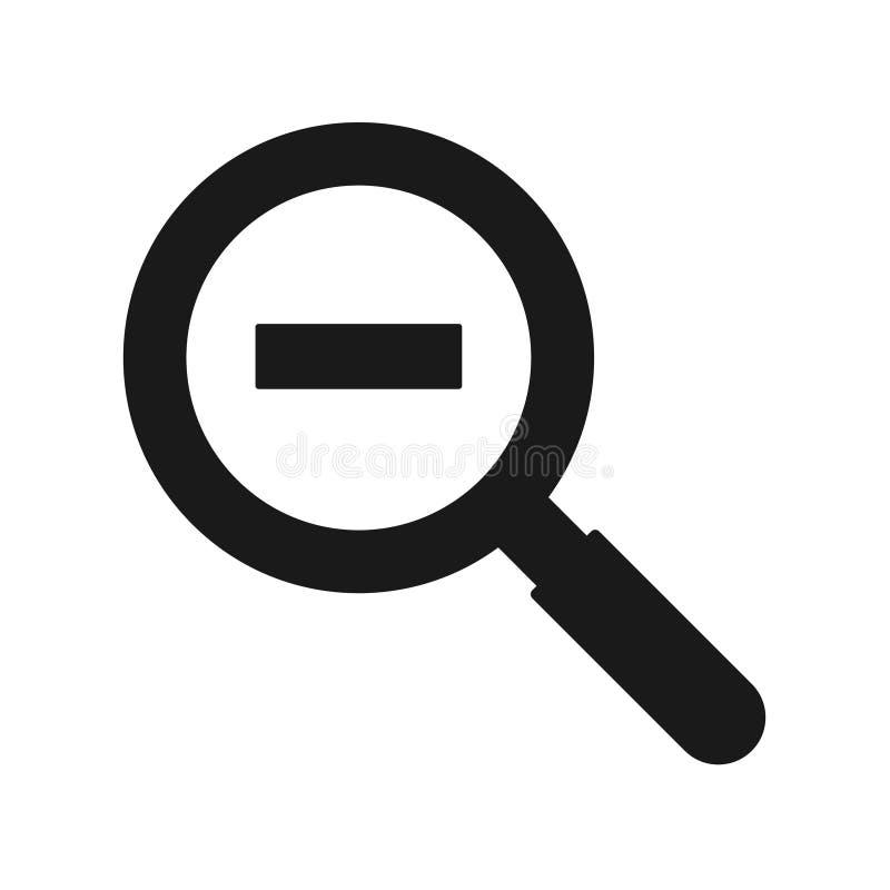 Ενίσχυση - γυαλί και αρνητικό εικονίδιο σημαδιών ελεύθερη απεικόνιση δικαιώματος