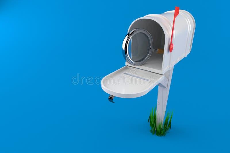 Ενίσχυση - γυαλί μέσα στην ταχυδρομική θυρίδα ελεύθερη απεικόνιση δικαιώματος