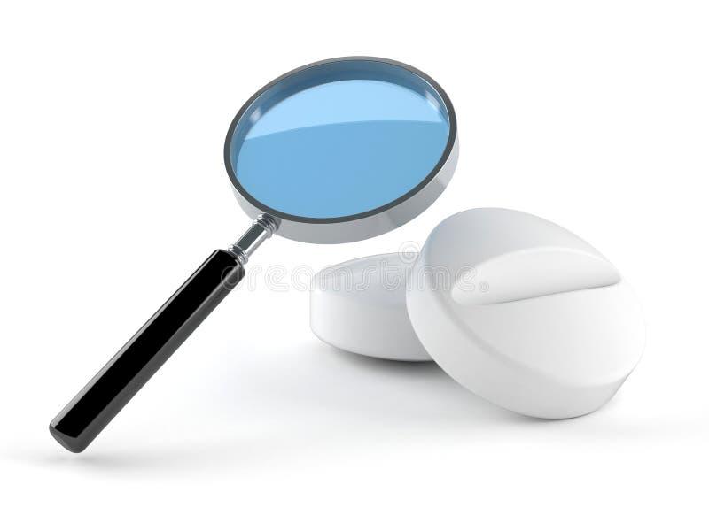 Ενίσχυση - γυαλί με τα φάρμακα απεικόνιση αποθεμάτων